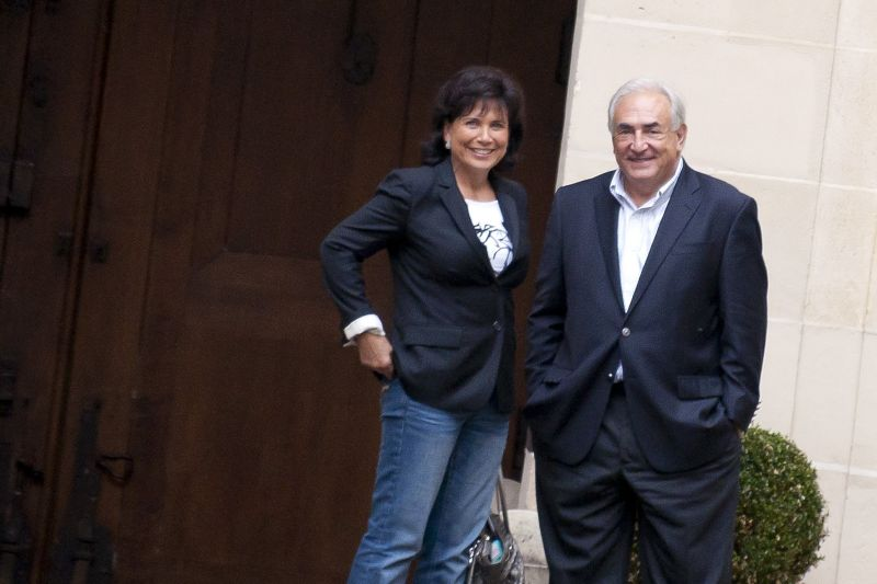 Rep.85464 Paris/France Sept.4th, 2011 NON EXCLUSIVE almost four monts after have been arrested in New York, Dominique Strauss Khan is back in France with his wife Anne Sinclair. Anne Sinclair ;Dominique Strauss-Kahn
