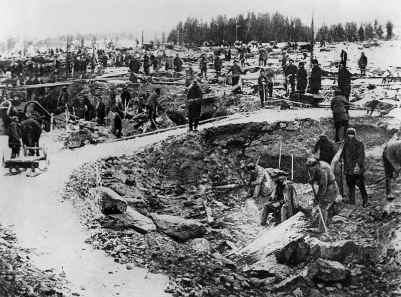 Prisioneros soviéticos gulag