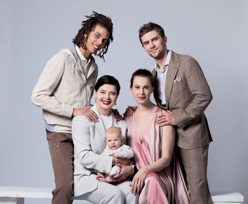 isabella rossellini con su familia