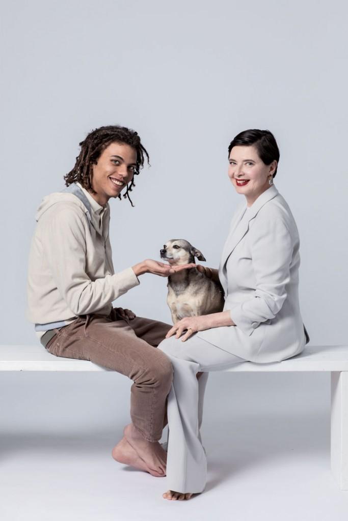 isabella rossellini con su hijo Robert