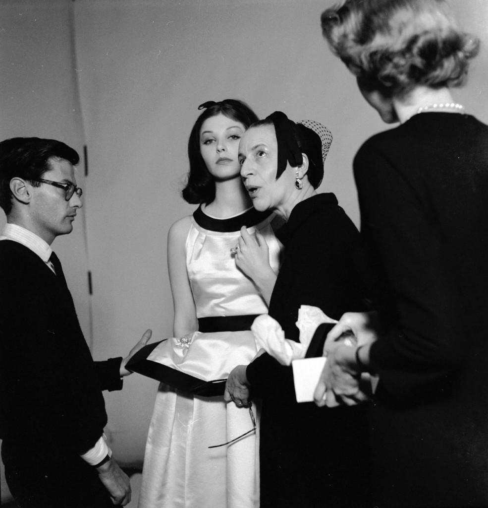 Diana Vreeland con Andy Warhol
