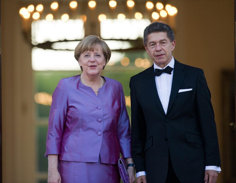 Angela Merkel y su esposo Joachim Sauer