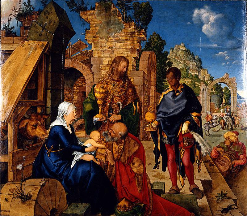 Adoración de los Reyes Magos, de Alberto Durero