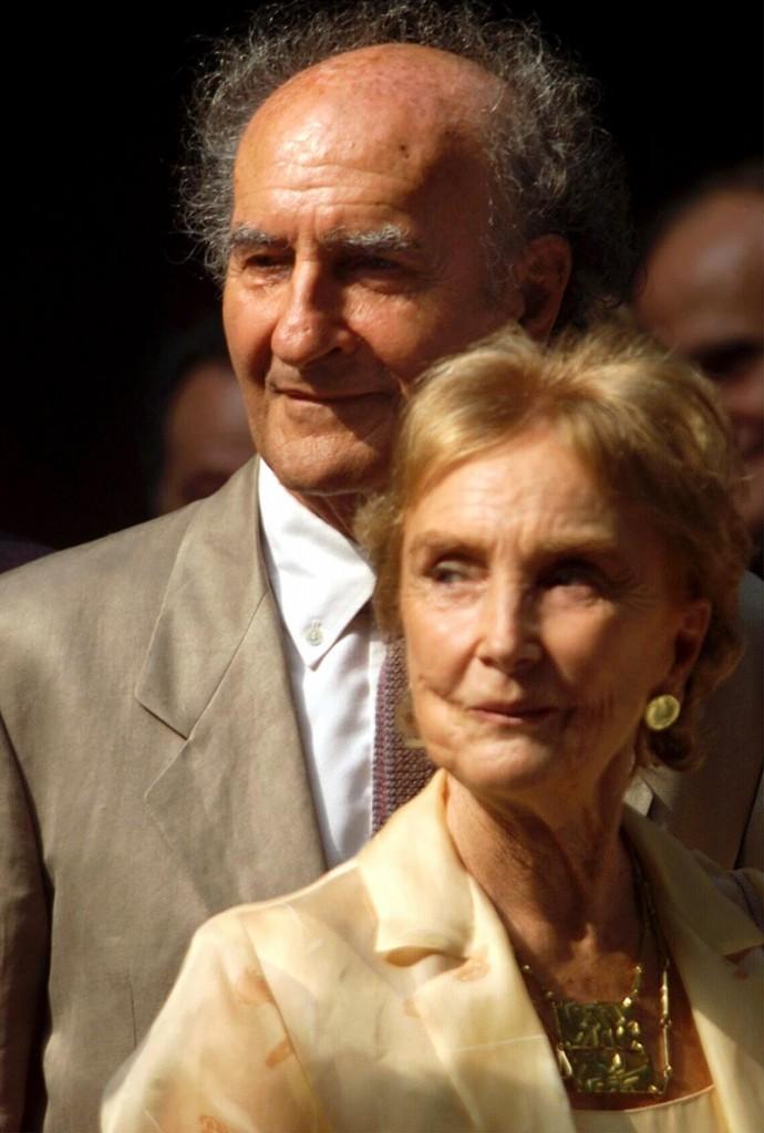 Eduardo Chillida y su esposa PIlar