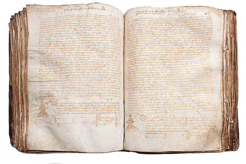 tumbo-pechado codices medievales