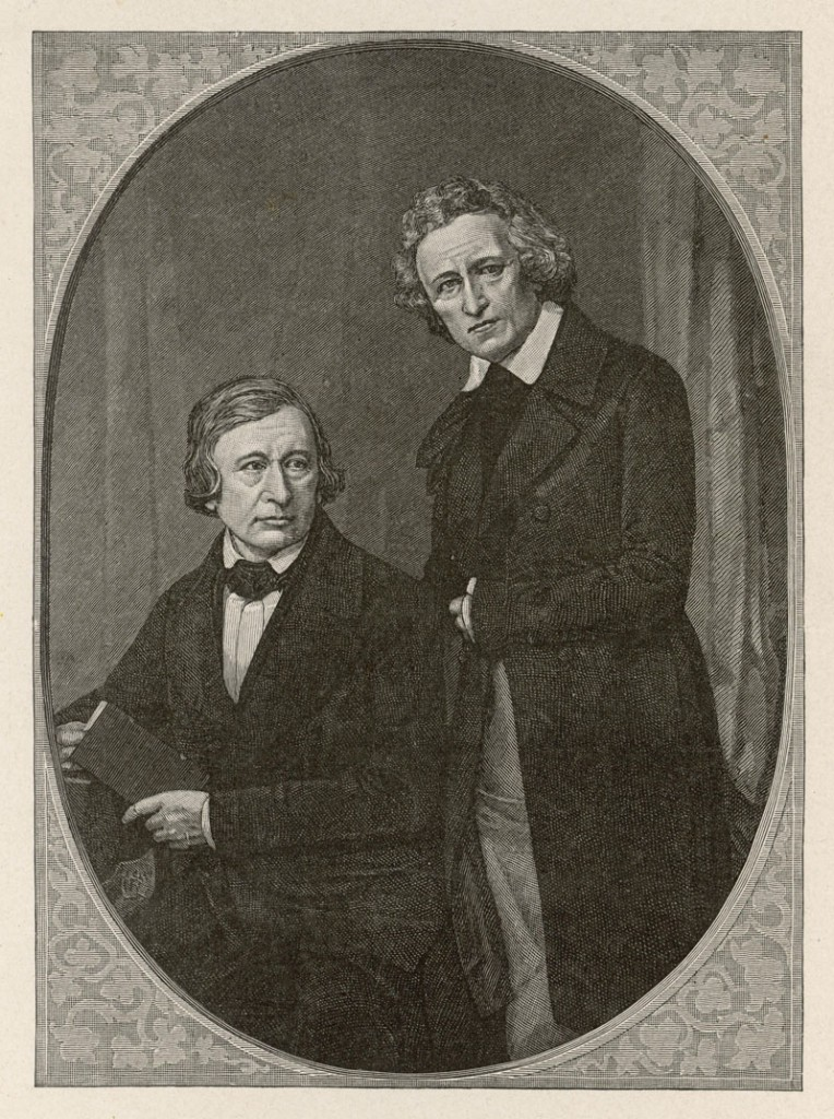JACOB AND WILHELM GRIMM German folklorists and philologists Date: 1785 - 1863, 1786 - 1859