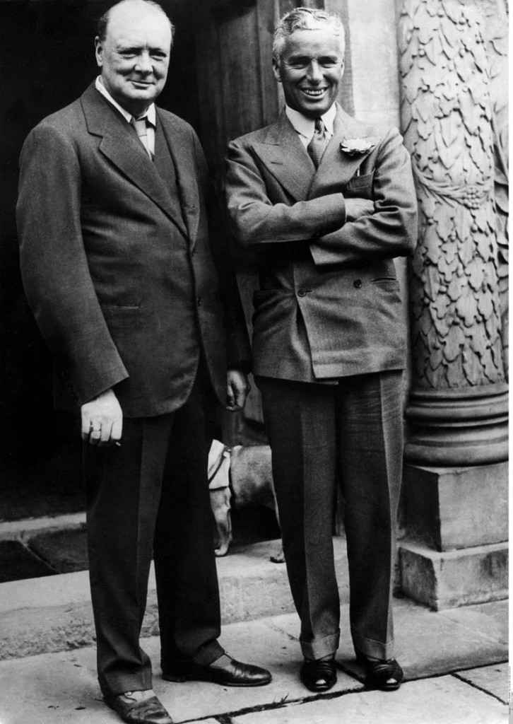 Charles Chaplin y Winston Churchill