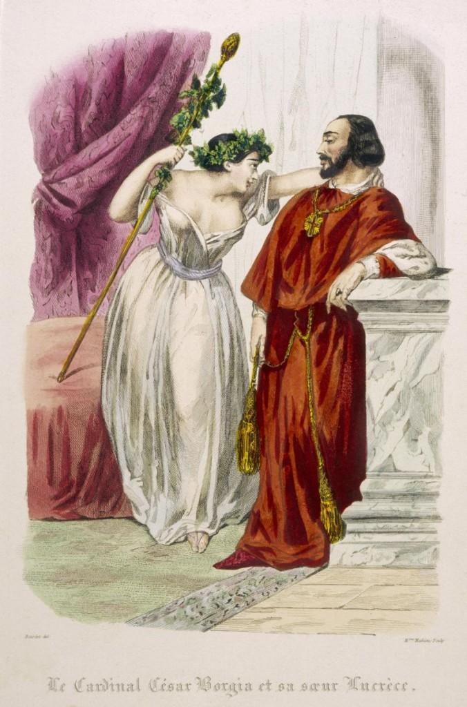 Conocer, historia, Lucrecia y César Borgia