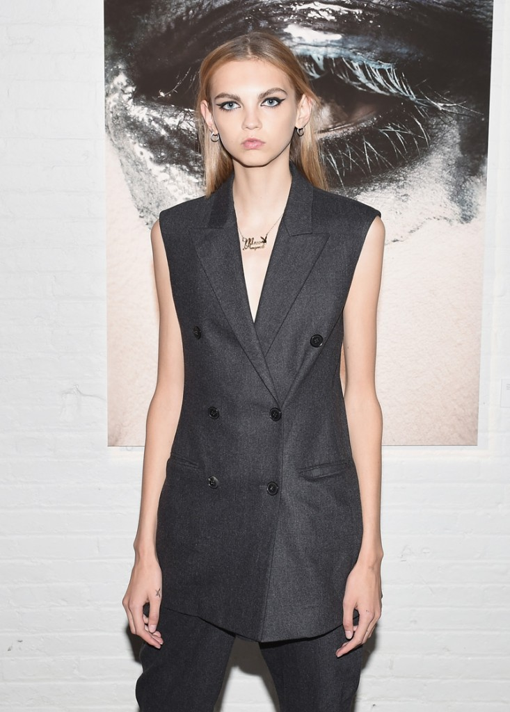 NEW YORK, NY - OCTOBER 25: Model Molly Bair attends Dior Beauty celebrates The Art of Color with Peter Philips on October 25, 2016 in New York City. (Photo by Nicholas Hunt/Getty Images for Dior Beauty)
