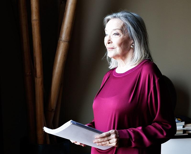 Núria Espert, actriz española. Interpreta al rey Lear en el Teatro Lliure, en Barcelona