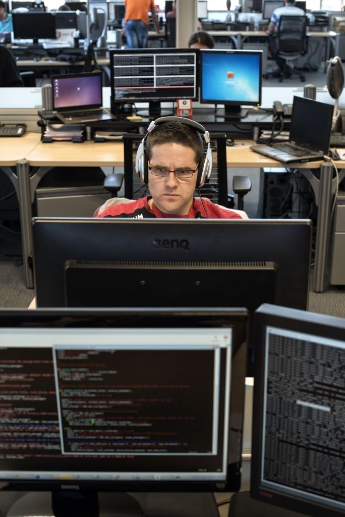 Trabajador del Incibe (Instituto Nacional de Ciberseguridad) en su sede de León, fundada en 2006 por el ex presidente Rodríguez Zapatero y destinada a la defensa digital