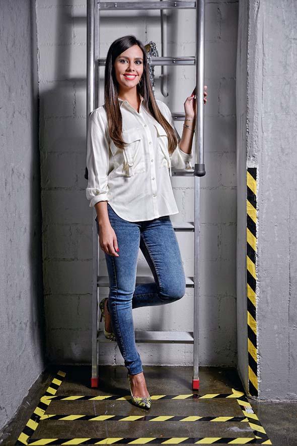 Cristina Pedroche, presentadora de TV, posa para una entrevista