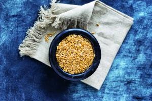 Bowl of polish wheat on cloth