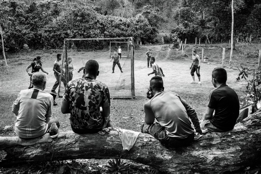 CAUCA, COLOMBIA - JULY 2016: A group of FARC-EP Western Bloc Alfonso Cano guerrilla members play soccer in one of their camps in Cauca. For fty-two years, the FARC-EP has fought in the con ict in Colombia as an armed movement. With the peace agreements reached in Havana on August 24, 2016, it begins its march towards a political movement. ( Photo by Alvaro Ybarra Zavala / Getty Images Reportage)