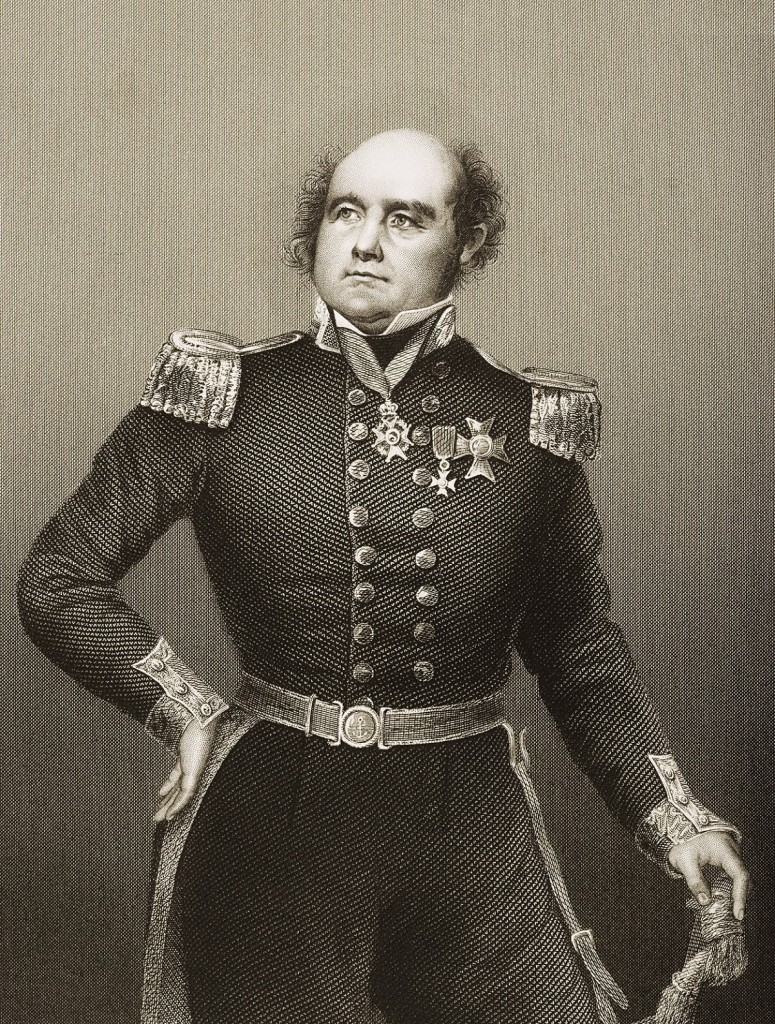 "UNSPECIFIED - CIRCA 1800: Sir John Franklin, 1786 - 1847. Celebrated English Navigator.Engraved by D.J.Pound from a drawing by Negelen. From the book ""The Drawing-Room of Eminent Personages"" Volume 2. Published in London 1860 CREDIT: Universal History Archive/Getty Images"