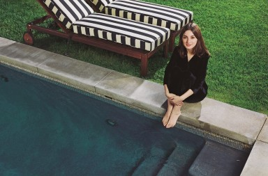 Spanish actress Maria Valverde photographed at her home in Los Angeles, October 28, 2016. The eyeball balloons belong to the son of her boyfriend, Gustavo Dudamel.