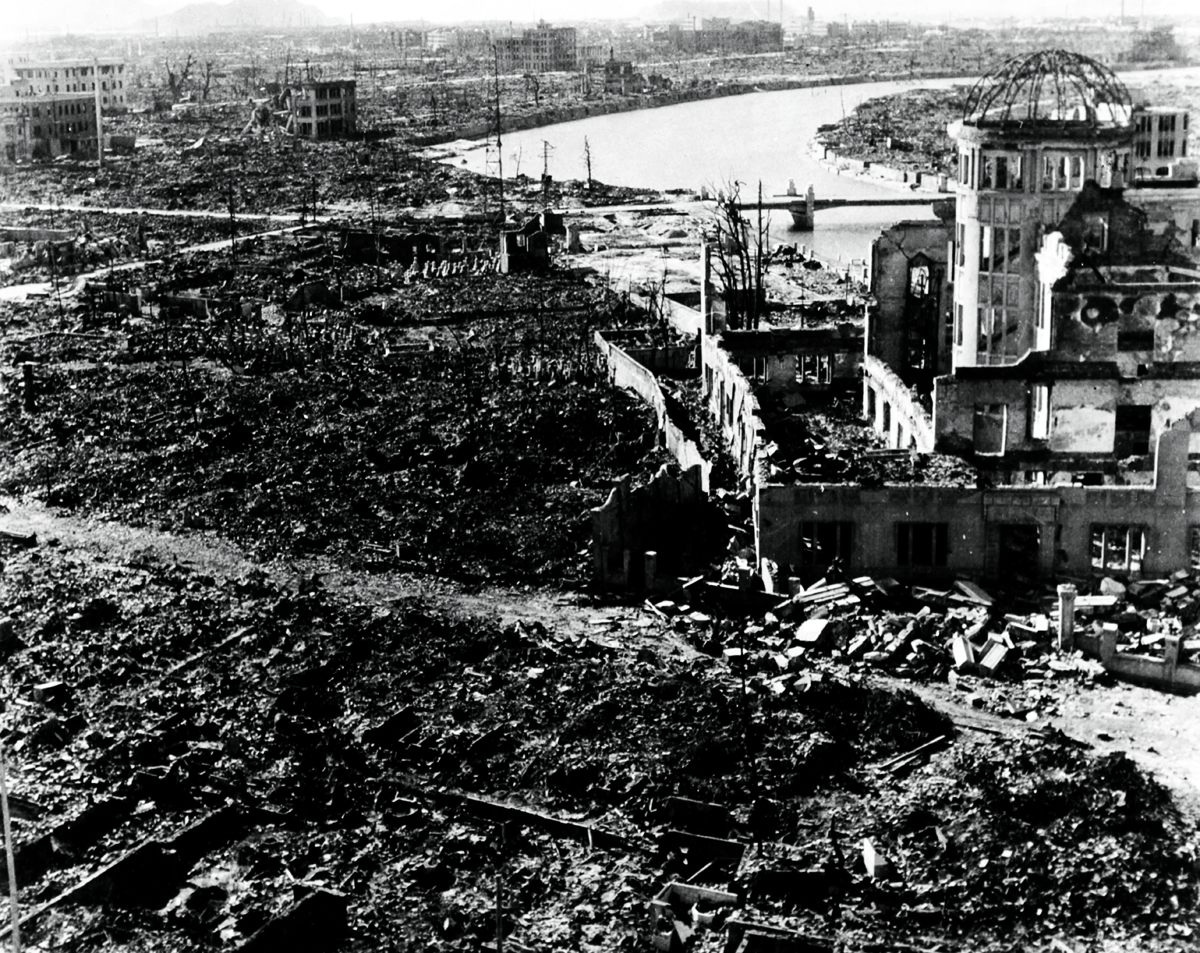 World War II, after the explosion of the atom bomb in August 1945Hiroshima, Japan