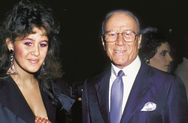 "NEW YORK CITY - SEPTEMBER 22:  Designer Aldo Gucci and daughter Patricia Gucci attend the premiere of ""Yes, Giorgio"" on September 22, 1982 at the Ziegfeld Theater in New York City. (Photo by Ron Galella, Ltd./WireImage)"