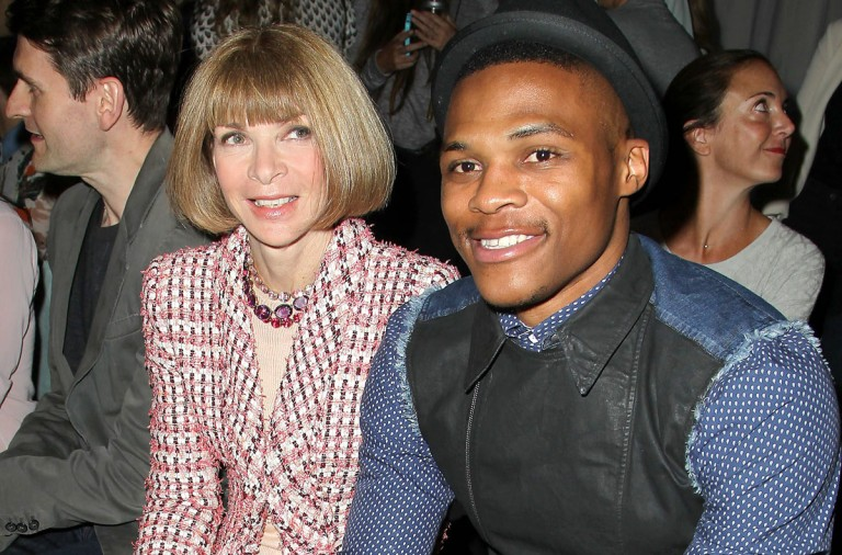 Russell Westbrook y Anna Wintour