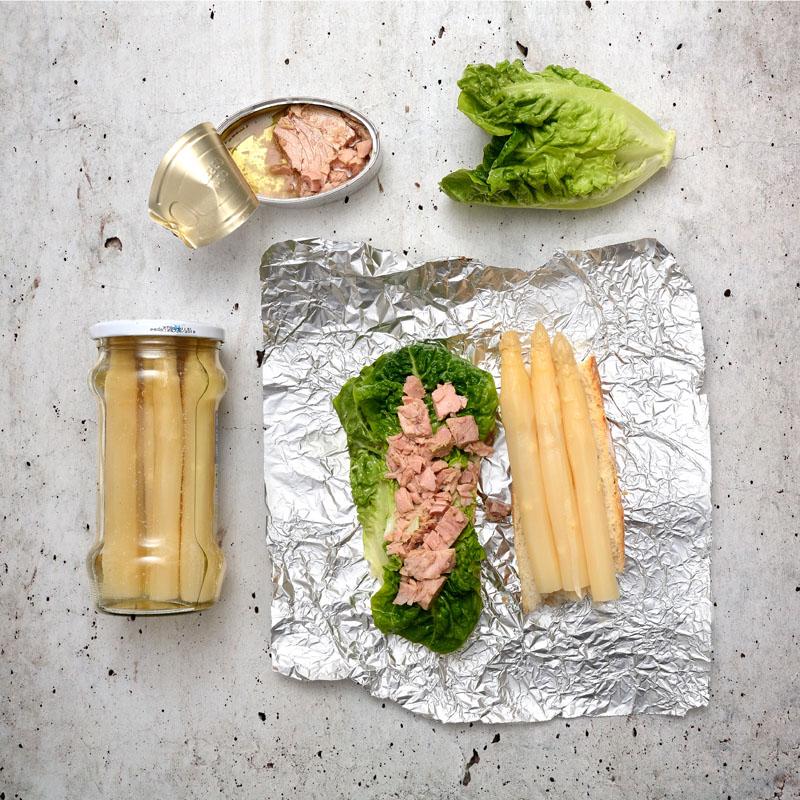 Merienda con vegetales y proteínas