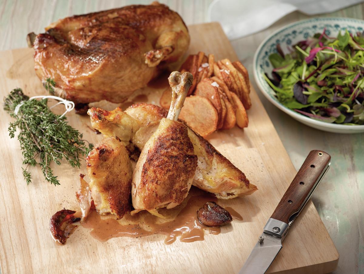 pollo asado en espaldera, receta, martin berasategui, xlsemanal
