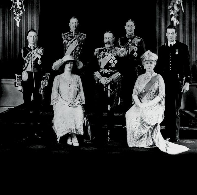 Conocer, historia, Los Windsord, King George V and family
