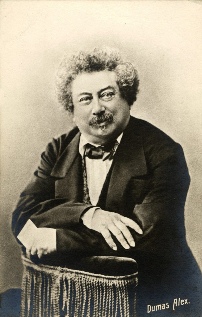 Alexandre Dumas (1802-1870) French Writer Retrato del Escritor Alejandro Dumas