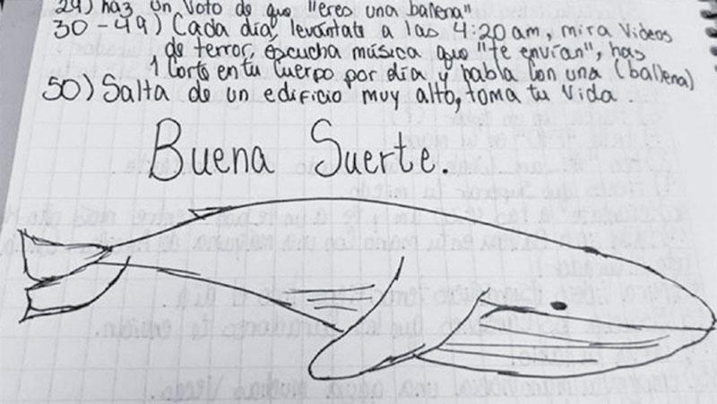 ballena azul, juego, autolesionarse, xlsemanal
