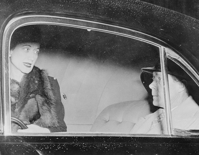 The Duke and Duchess of Windsor in a Limousine