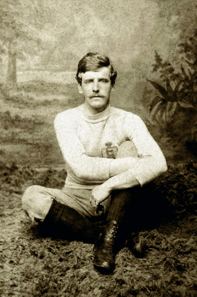 Sport, Football, pic: circa 1880's, Henry Cursham, Notts County 1880-1887, the scorer of a record 48 FA,Cup goals, and holder of 8 England international caps 1880-1884 (Photo by Bob Thomas/Popperfoto/Getty Images)