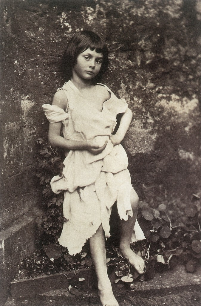 ALICE LIDDELL (1852-1934). Alice Pleasance Liddell. The inspiration for 'Alice's Adventures in Wonderland,' Charles Lutwidge Dodgson, also known as Lewis Carroll. Alice posed as a beggar. Photograph by Dodgson, c1859.