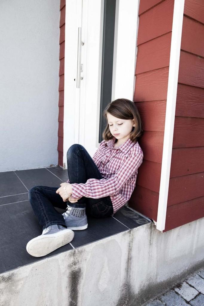 introvertido niña