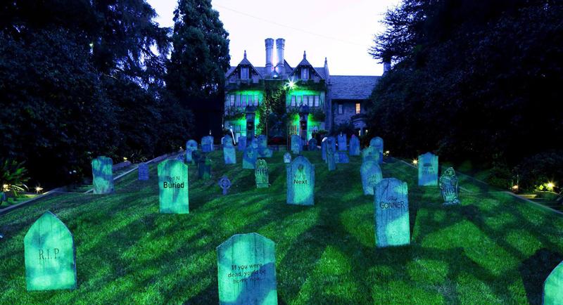 Mansion Playboy Hugh Hefner halloween