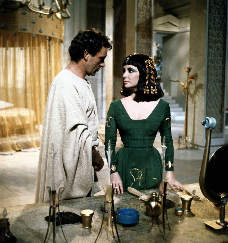 Elizabeth Taylor y Richard Burton Cleopatra