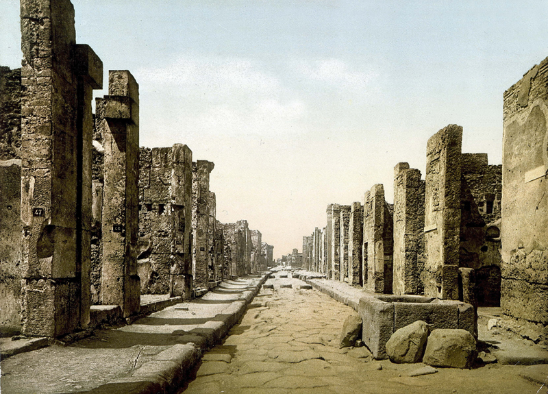 conocer historia calzada romana Pompeya