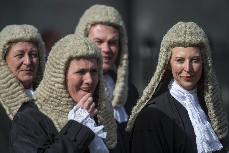 jueces Inglaterra pelucas