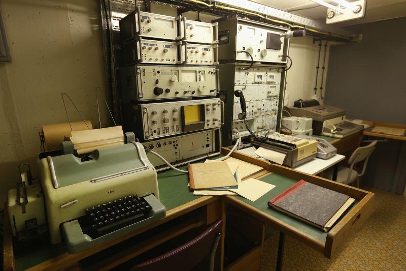 Stasi, sala de comunicacion, RDA Alemania