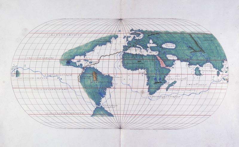 conocer historia Magallanes Mapa con la ruta de Magallanes
