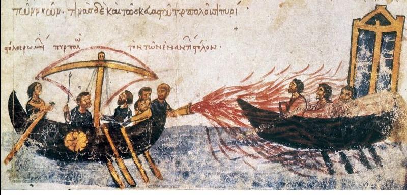 conocer historia armas quimicas fuego griego