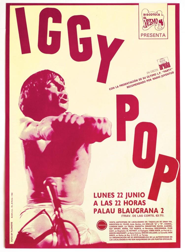 Iggy Pop poster Gay Mercader