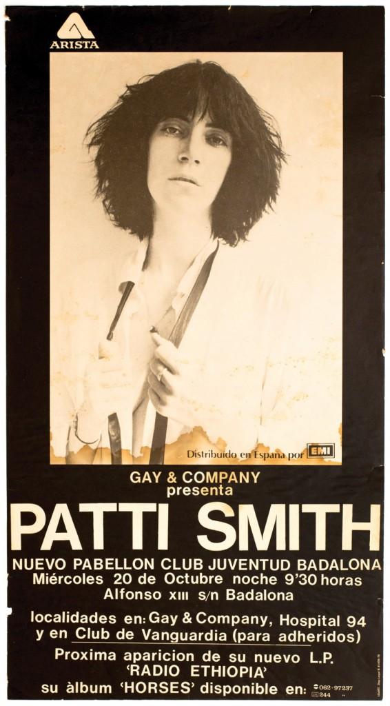 Patti Smith poster concierto