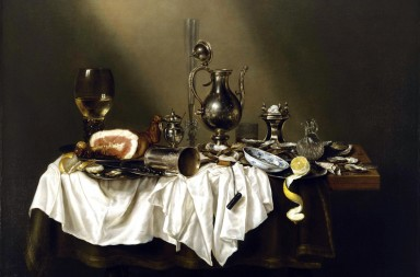 EWX0EP Willem Claeszoon Heda, Banquet Piece with Ham 1656 Oil on canvas. Museum of Fine Arts, Houston, USA.