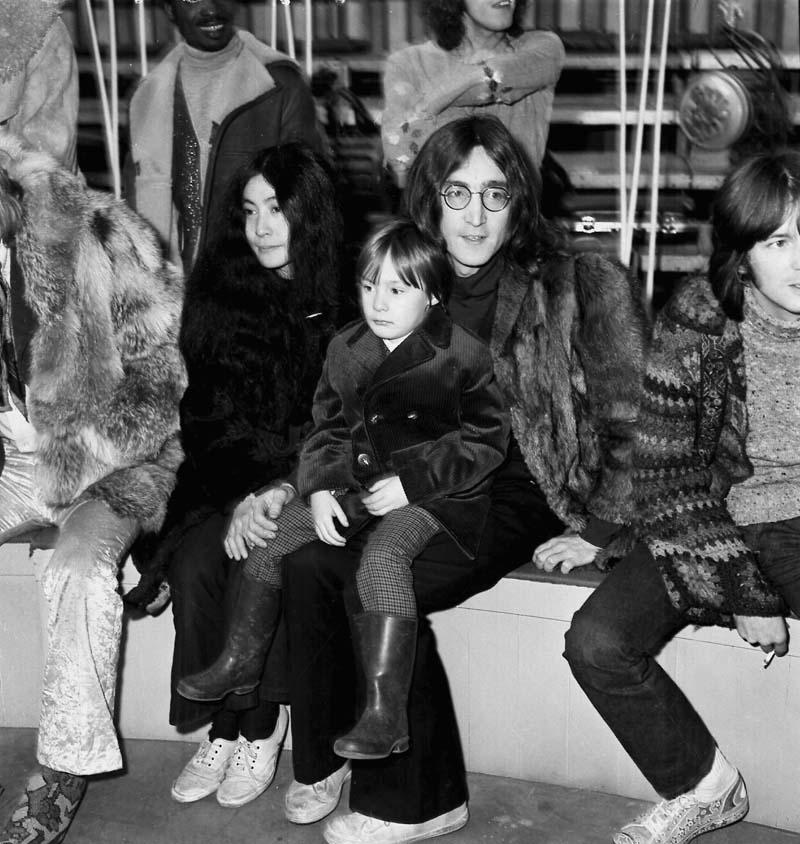 John Lennon, Yoko Ono y Julian Lennon
