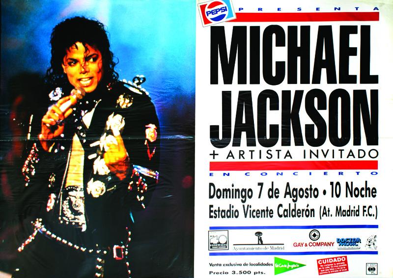 poster Michael Jackson concierto Gay Mercader