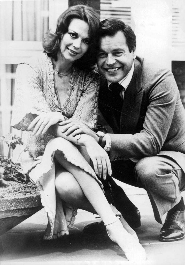 Natalie Wood con su marido Robert Wagner en 1976