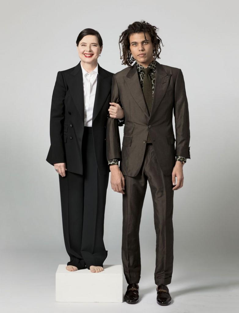 Isabella Rossellini con su hijo Roberto