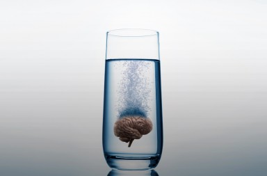 water glass on blue background; Shutterstock ID 767100025; Purchase Order: -