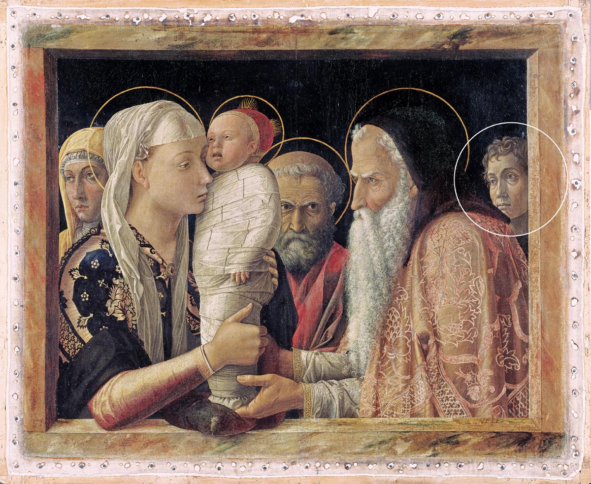 GemÑlde / ôl auf Pappelholz (um 1465/66) von Andrea Mantegna [1431 - 1506] Bildma· 77,1 x 94,4 cm Inventar-Nr.: 29 Systematik: Kulturgeschichte / Religionsgeschichte / Neues Testament / Jesus / Kindheit / Darstellung
