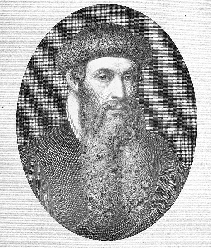 Engraving of Johann Gutenberg (1400?-1468) German inventor of printing from movable type. (Photo by Time Life Pictures/Mansell/The LIFE Picture Collection/Getty Images)