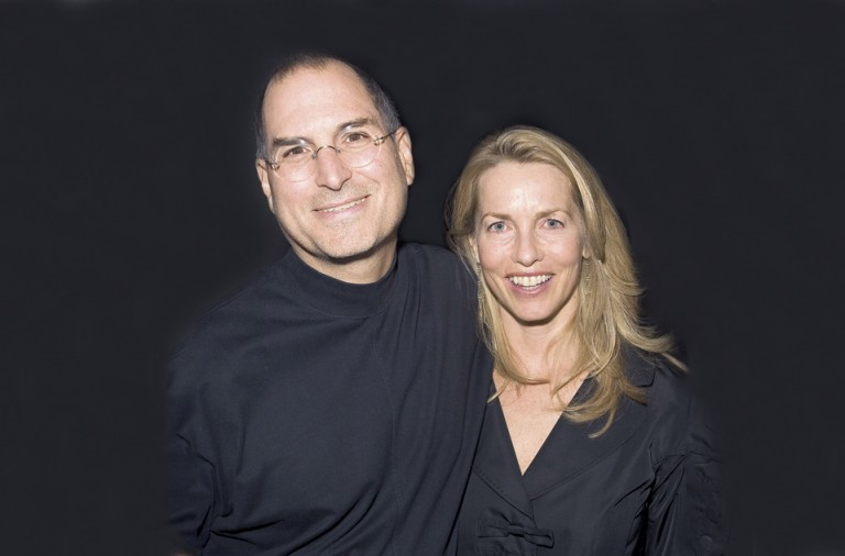 Steve Jobs y Laurene Powell Jobs